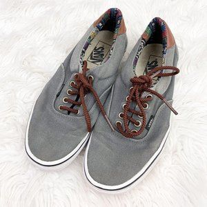Vans Gray Canvas Atwood Boho Skater Sneakers